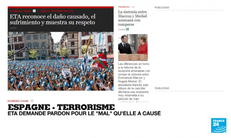 Pays basque : les excuses de l'ETA ne règlent pas la question des responsabilités