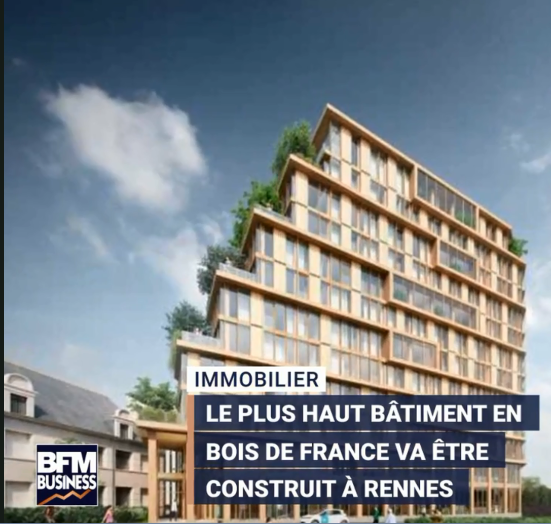 VIDEO – Le plus haut bâtiment en bois de France sera breton