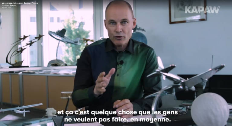 VIDEO : Le nouveau challenge de Bertrand Piccard