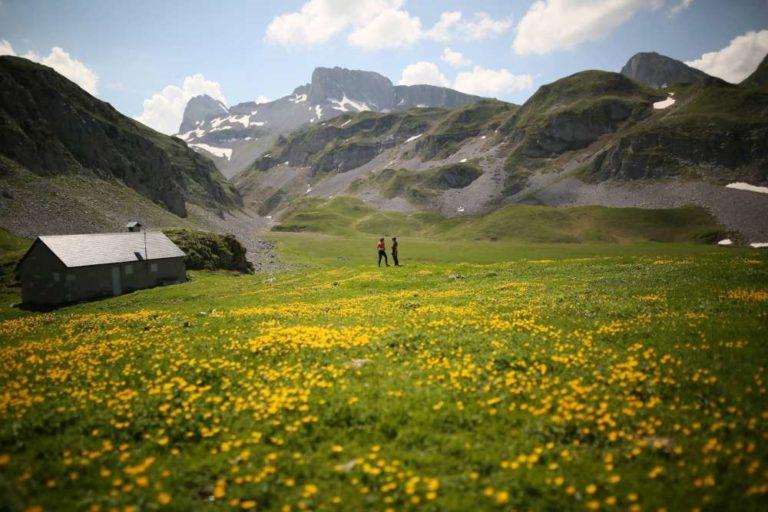 En images : les bergers et leur matériel acheminés par hélicoptère dans leurs estives