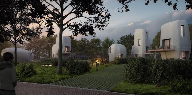 Écologiques et peu coûteuses, les premières maisons imprimées en 3D habitables sont aux Pays-Bas