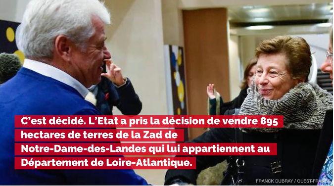 Notre-Dame-des-Landes : le Département de Loire-Atlantique rachète la Zad à l'État