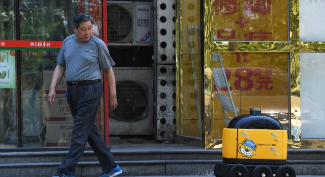 Des robots ont commencé à remplacer les livreurs en Chine