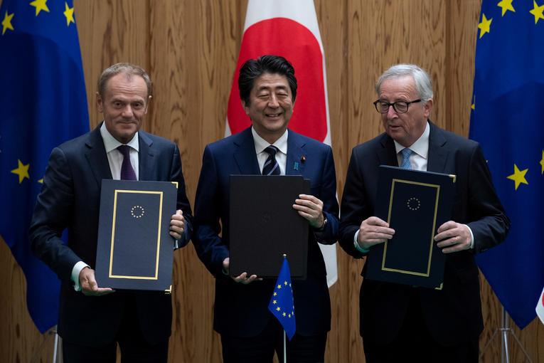 Le Japon et l'UE s'allient contre le protectionnisme américain