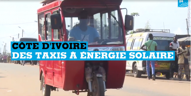 VIDEO : Côte d'Ivoire : des taxis à énergie solaire à Jacqueville