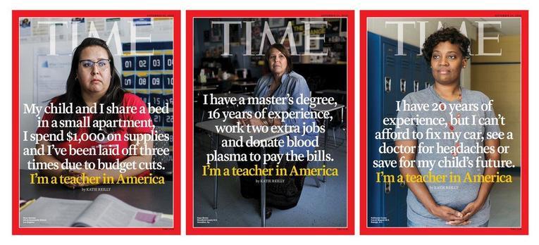 """Le malaise des profs américains à la une de """"Time"""""""