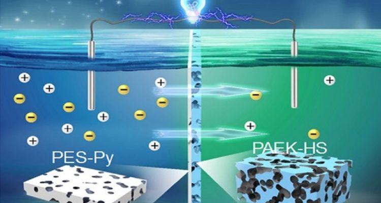 Cette membrane permet de produire de l'électricité uniquement à partir d'eau salée