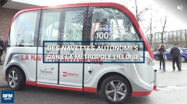 VIDEO : Une navette autonome et électrique circule dans la métropole lilloise
