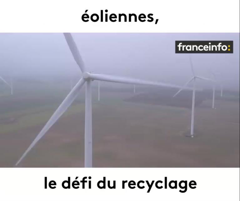 VIDEO : Éoliennes, le défi du recyclage