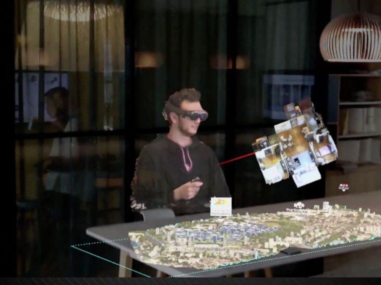 VIDEO : Réalité augmentée: on a testé les réunions par holoportation de BNP Paribas Real Estate et Mymesis