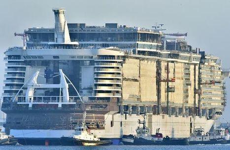 A Saint-Nazaire, l'hallucinant, l'ébouriffant «Harmony of the Seas», le plus grand paquebot du monde