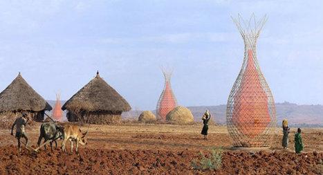 Ces tours en bambou transforment l'air en eau potable