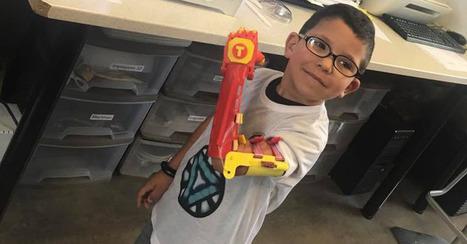 Des Lorrains fabriquent et offrent une prothèse imprimée en 3D à Téo