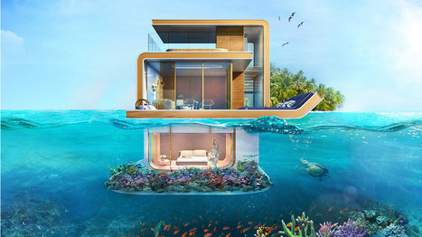 Des splendides villas construites dans la mer