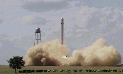 Des vaches ont été impressionnées par l'ascension et l'atterrissage de la fusée réutilisable de SpaceX