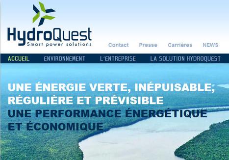 HYDROQUEST industrialise, commercialise et installe les hydroliennes fluviales et estuariennes les plus performantes du marché