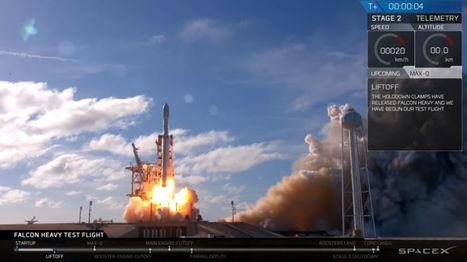 La Falcon Heavy de SpaceX a enfin pris son envol, vers l'infini et au-delà