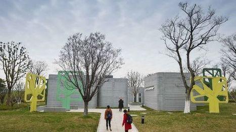 Une imprimante 3D géante construit des villas en Chine