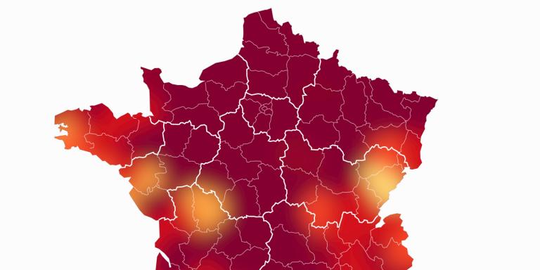 Chaleur extrême: la moitié des températures maximales battues cette année en France