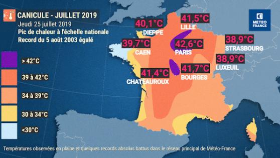Canicules 2019 : la moitié de la France n'avait jamais eu aussi chaud !