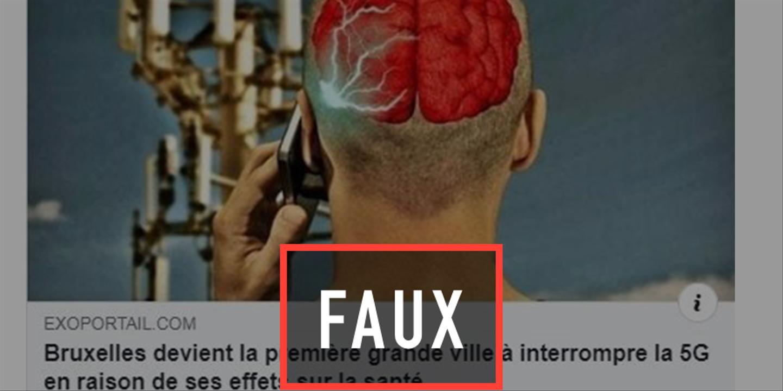 Non, Bruxelles n'a pas interdit la 5G pour des raisons de santé