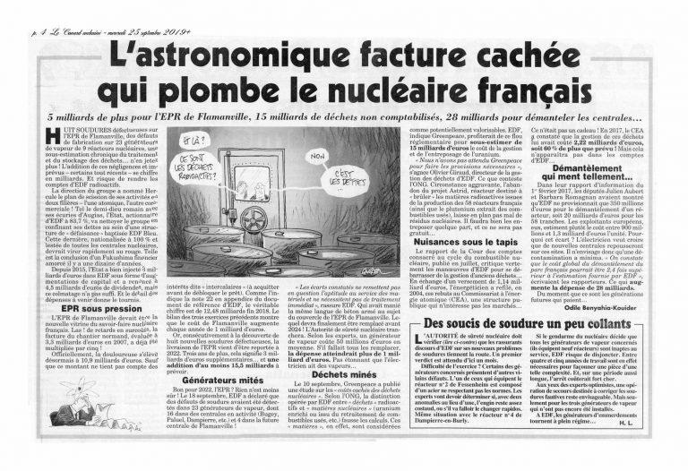 L'astronomique facture cachée qui plombe le nucléaire français