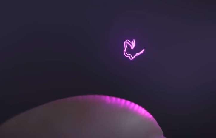 Cet hologramme «façon Star Wars» réagit lorsqu'on le touche !
