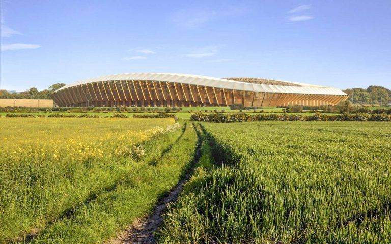 Le premier stade de football en bois du monde sera construit en Angleterre