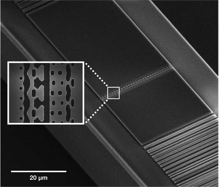 Un micro-accélérateur de particules de la taille d'un cheveu !