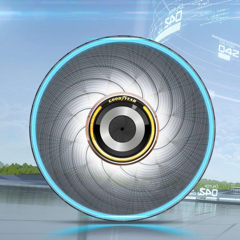 Goodyear reCharge, le pneu « auto-régénérant »