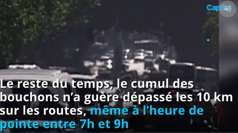 Bouchons, pollution… l'impact spectaculaire du confinement