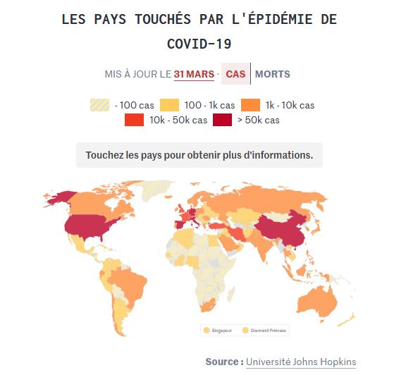 Coronavirus : les Etats-Unis se mobilisent, l'Europe guette le pic de la pandémie
