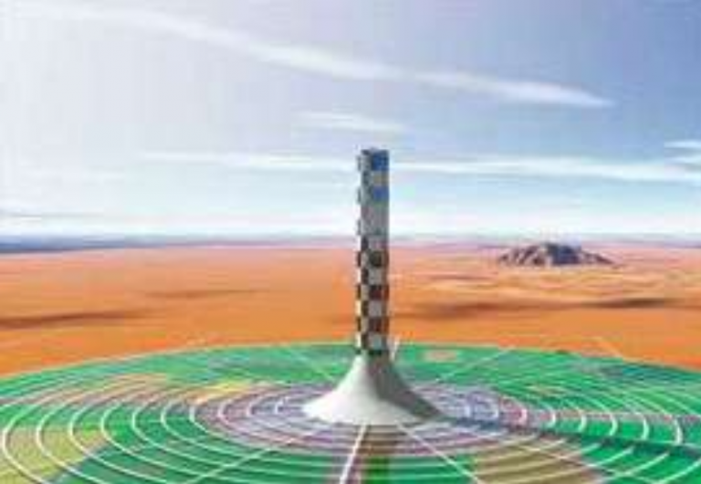Énergie : une tour solaire de 750 m de haut !