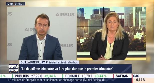 Airbus «n'a pas besoin» d'une montée dans son capital de l'Etat français pour surmonter la crise