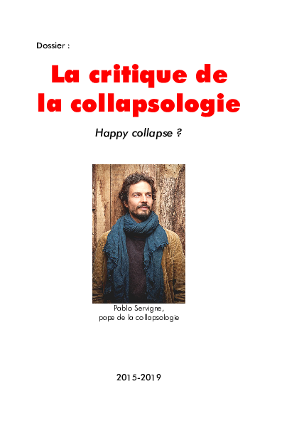 La critique de la collapsologie
