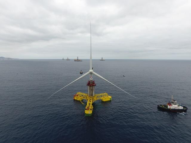 Une éolienne télescopique plus facile et moins chère à installer en mer