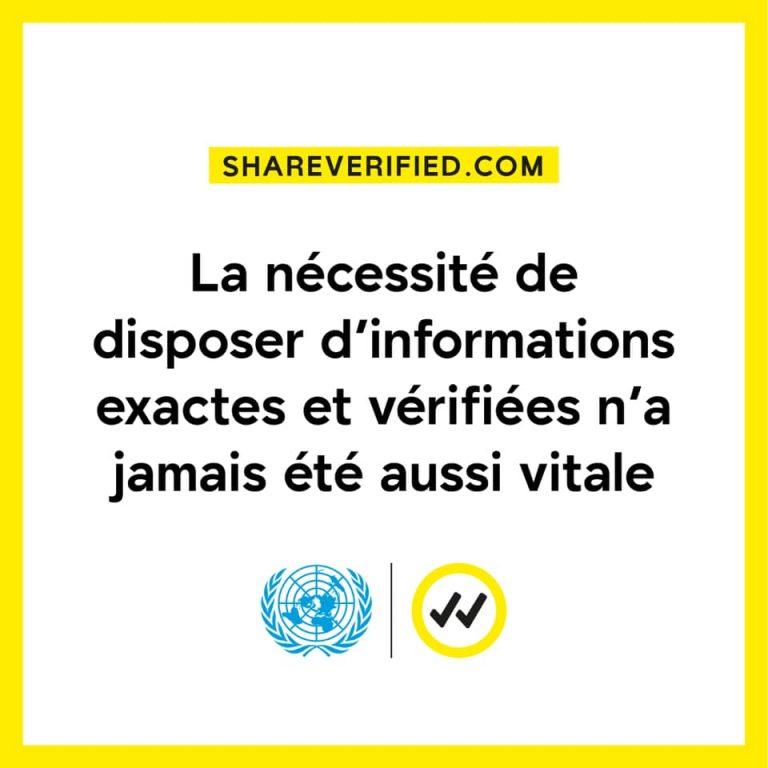L'ONU lance « Verified », une nouvelle initiative visant à partager des informations fiables