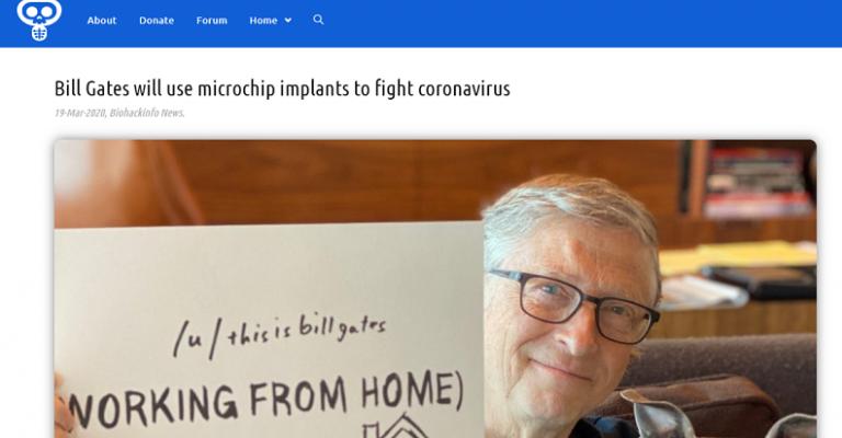 Non, Bill Gates n'a pas proposé d'implanter une puce électronique à la population