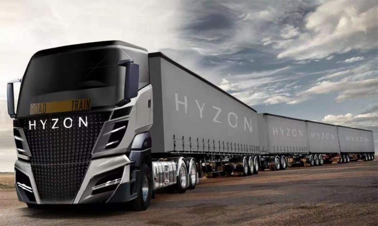 Écologie : ce super-camion de 50 mètres roule à l'hydrogène