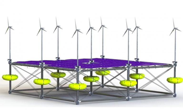 Ciao pétrole : cette centrale transforme le vent, les vagues et le soleil en énergie verte