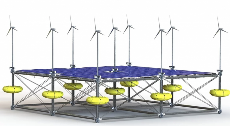 Cette centrale électrique flottante puise l'énergie des vagues, du soleil et du vent à la fois