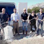 Un filet de pêche biodégradable et compostable en test, une première en Europe