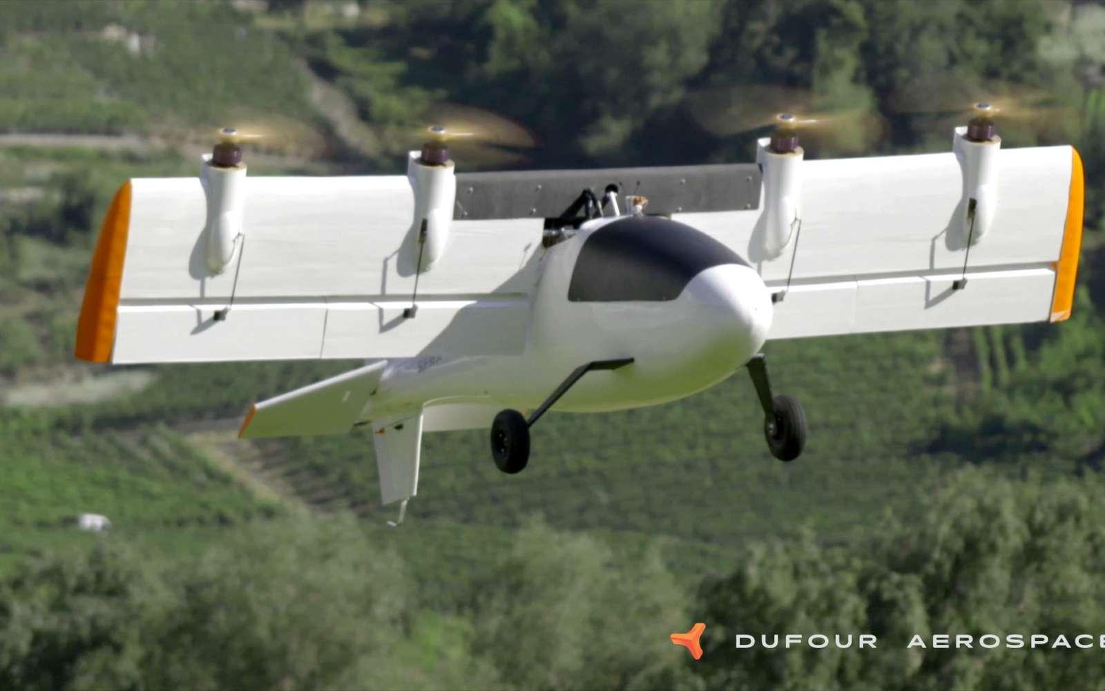 L'avion électrique à décollage vertical conçu par la Suisse prend son envol
