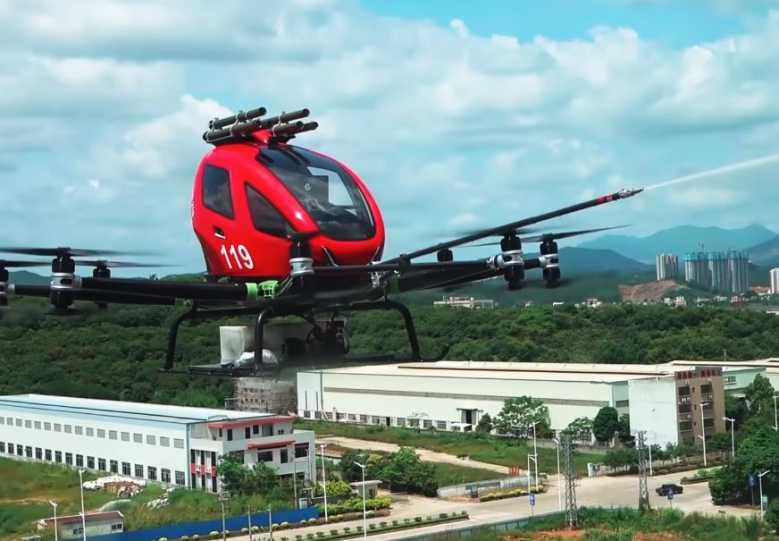 Chine : grâce à ce drone équipé de lances à incendie, les pompiers pourraient gagner un temps précieux !