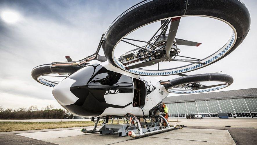 De nouvelles images inédites du taxi volant d'Airbus, entièrement électrique et automatisé