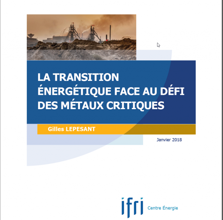 Gilles Lepesant : La transition énergétique face au défi des métaux critiques