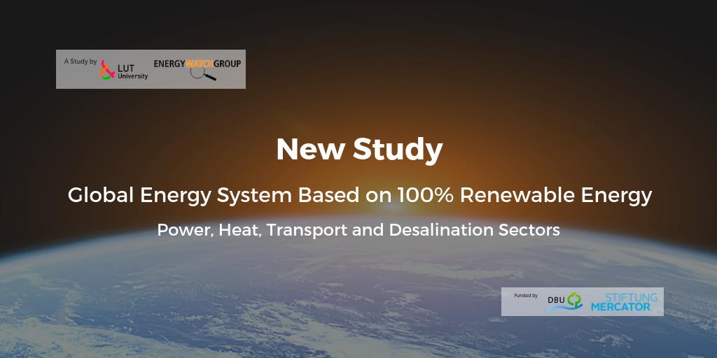 Global energy system based on 100% renewable energy