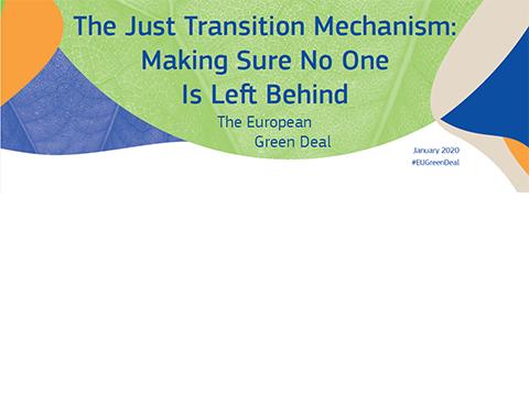 Financer la transition verte: le plan d'investissement du pacte vert pour l'Europe et le mécanisme pour une transition juste