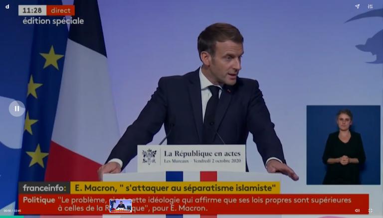 Macron interdit l'enseignement à domicile sauf pour raisons de santé dès 2021