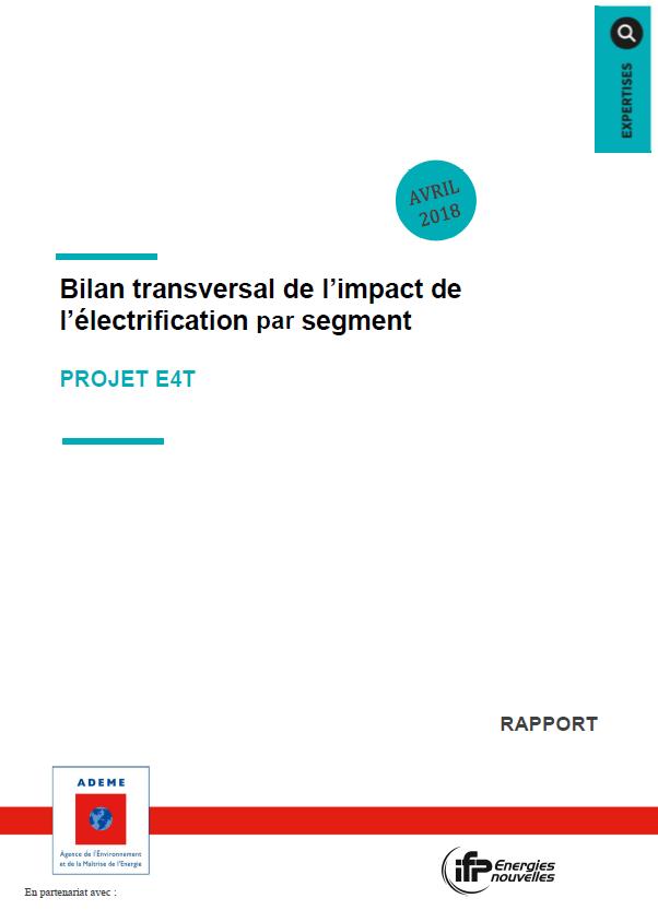 ADEME : Bilan transversal de l'impact de l'électrification par segment